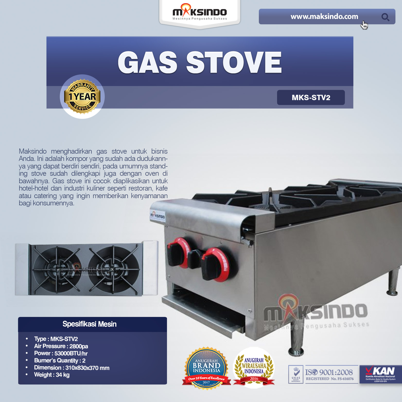 Gas Stove MKS-STV2
