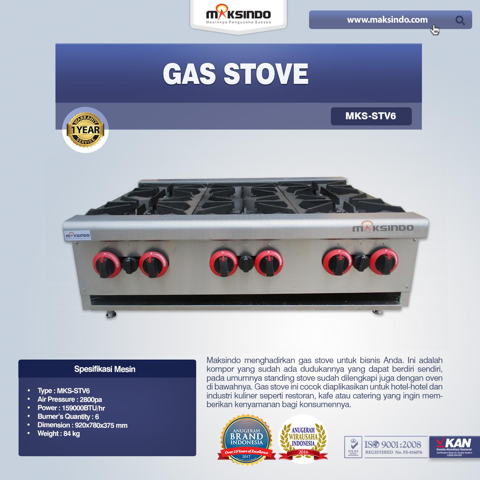 Gas Stove MKS-STV6
