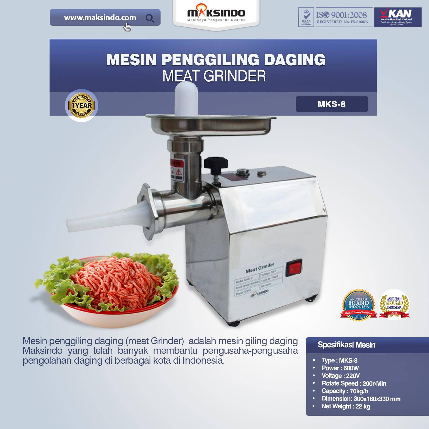 Mesin Penggiling Daging Meat Grinder MKS-8