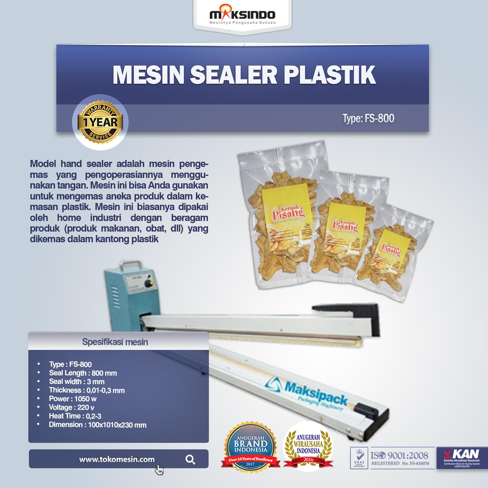 Mesin Sealer Plastik FS-800