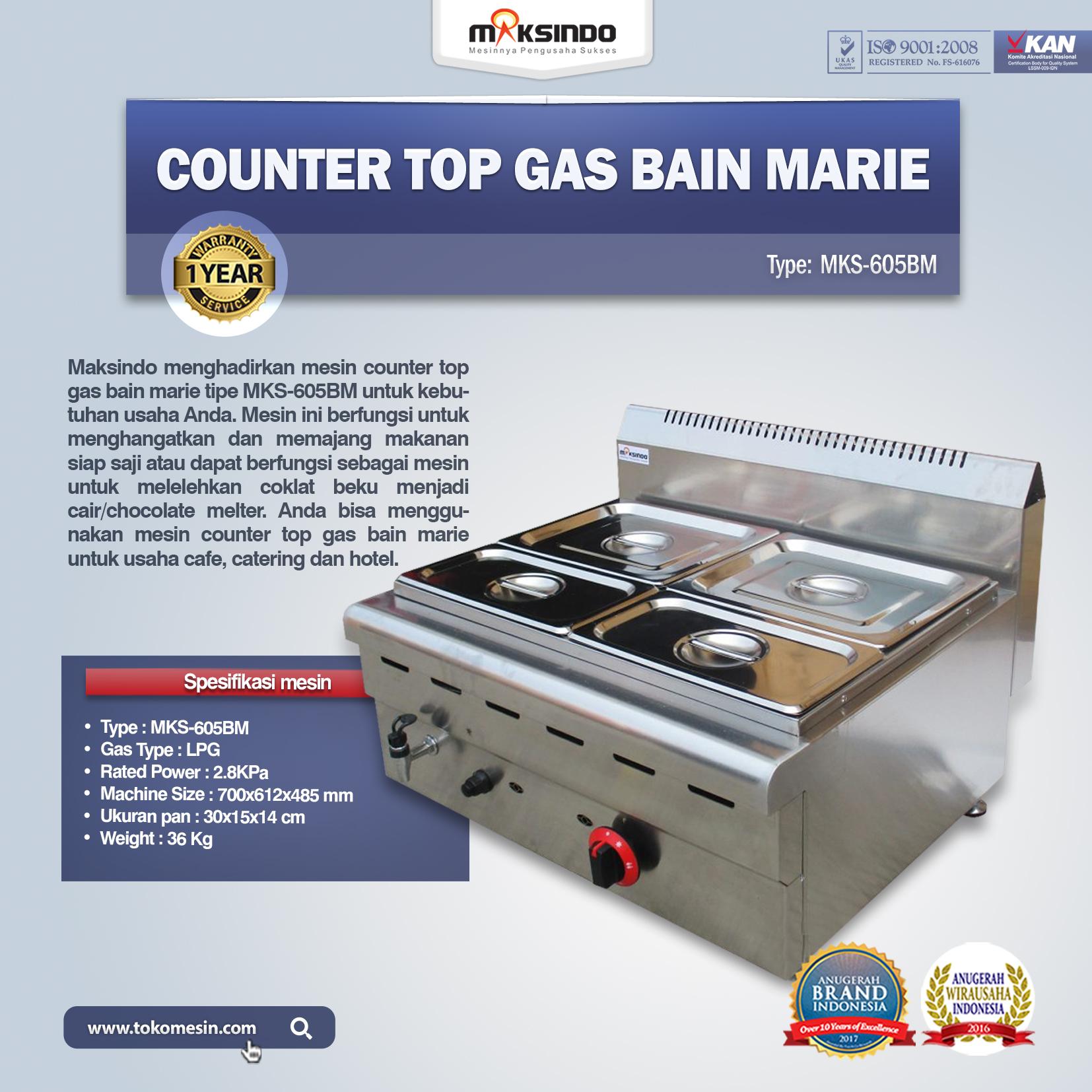 Counter Top Gas Bain Marie MKS-605BM