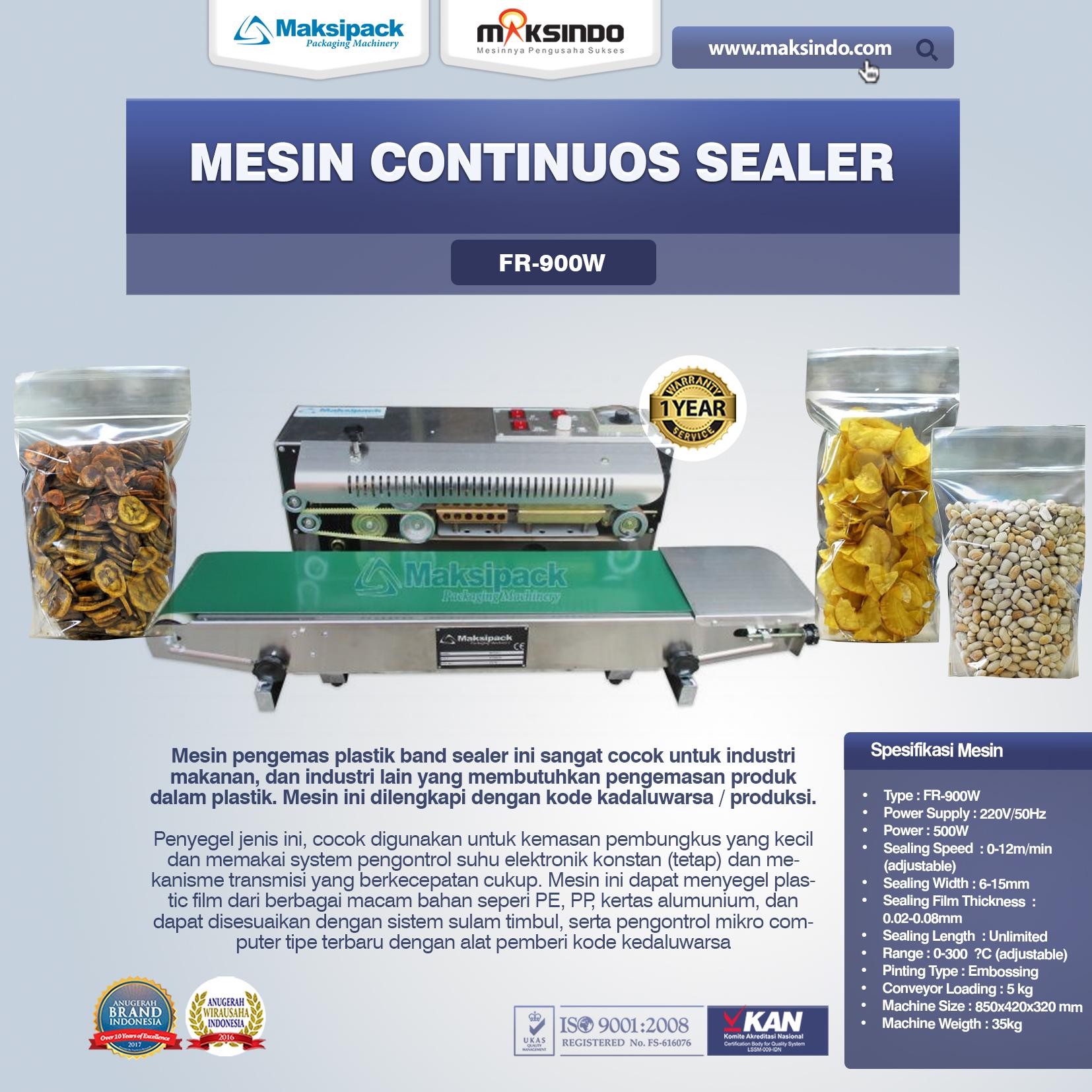 Mesin Continuos Sealer FR-900W