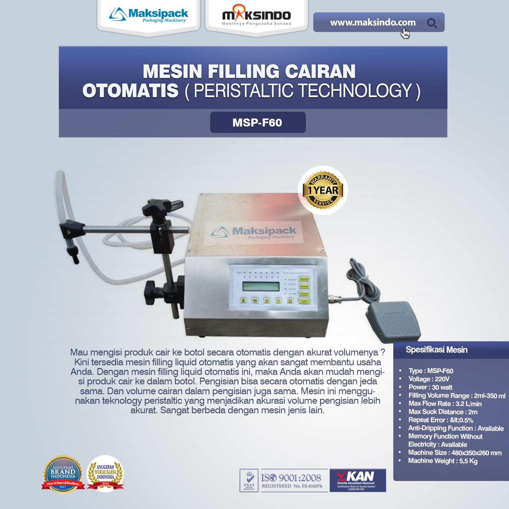 Mesin Filling Cairan Otomatis MSP-F60