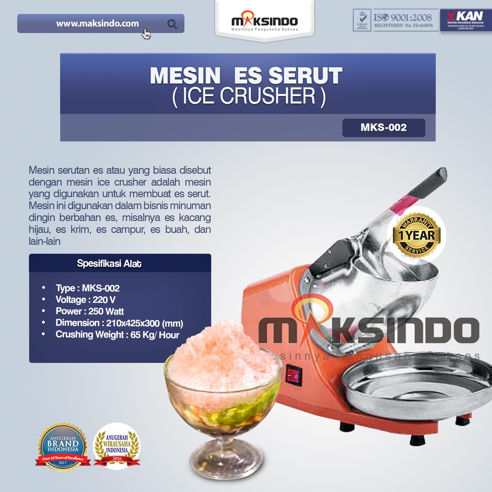 Mesin Ice Crusher MKS-002