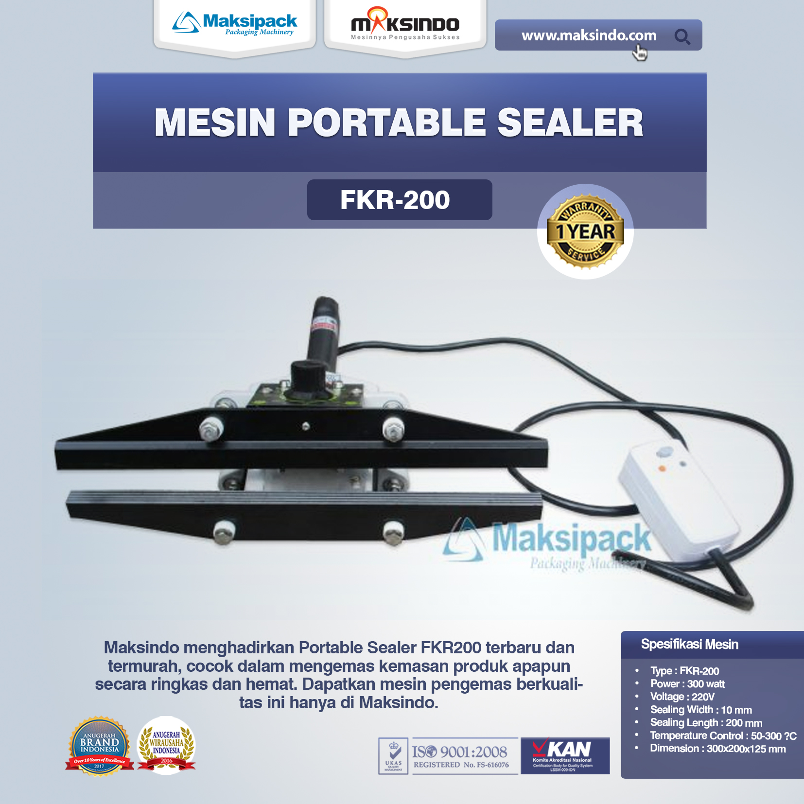 Mesin Portable Sealer FKR-200
