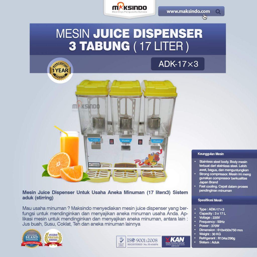 Juice Dispenser 3 Tabung 17 Liter ADK 17×3 (1)
