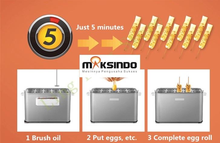Mesin Egg Roll Sosis Telur Snack Maker 4in1 Listrik-9