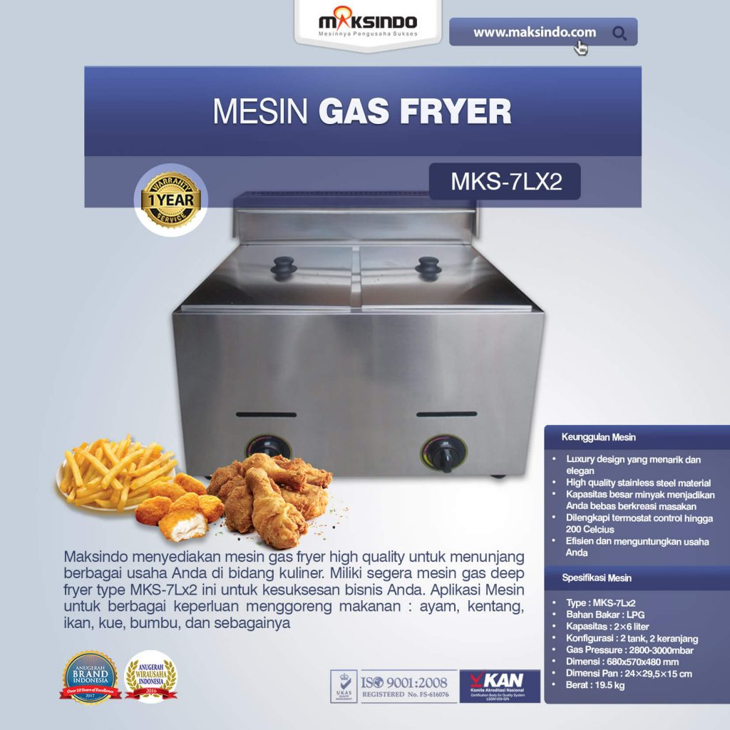Mesin Gas Fryer MKS-7Lx2 (1)