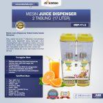 Jual Mesin Juice Dispenser 2 Tabung (17 Liter) – DSP17x2 di Tangerang