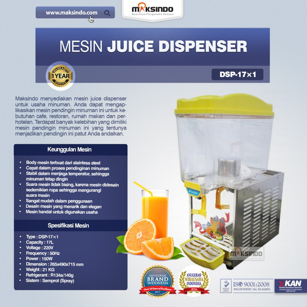 Mesin Juice Dispenser DSP-17×1
