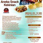 Training Usaha Aneka Snack Kekinian, 15 April 2018