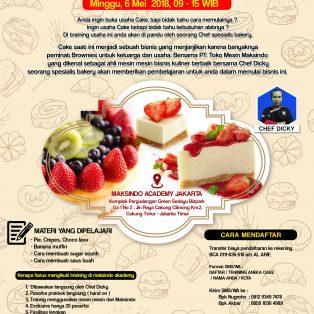 Training Usaha Aneka Cake, 6 Mei 2018