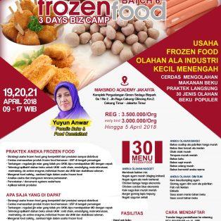 Training Usaha Frozen Food, 19-21 April 2018