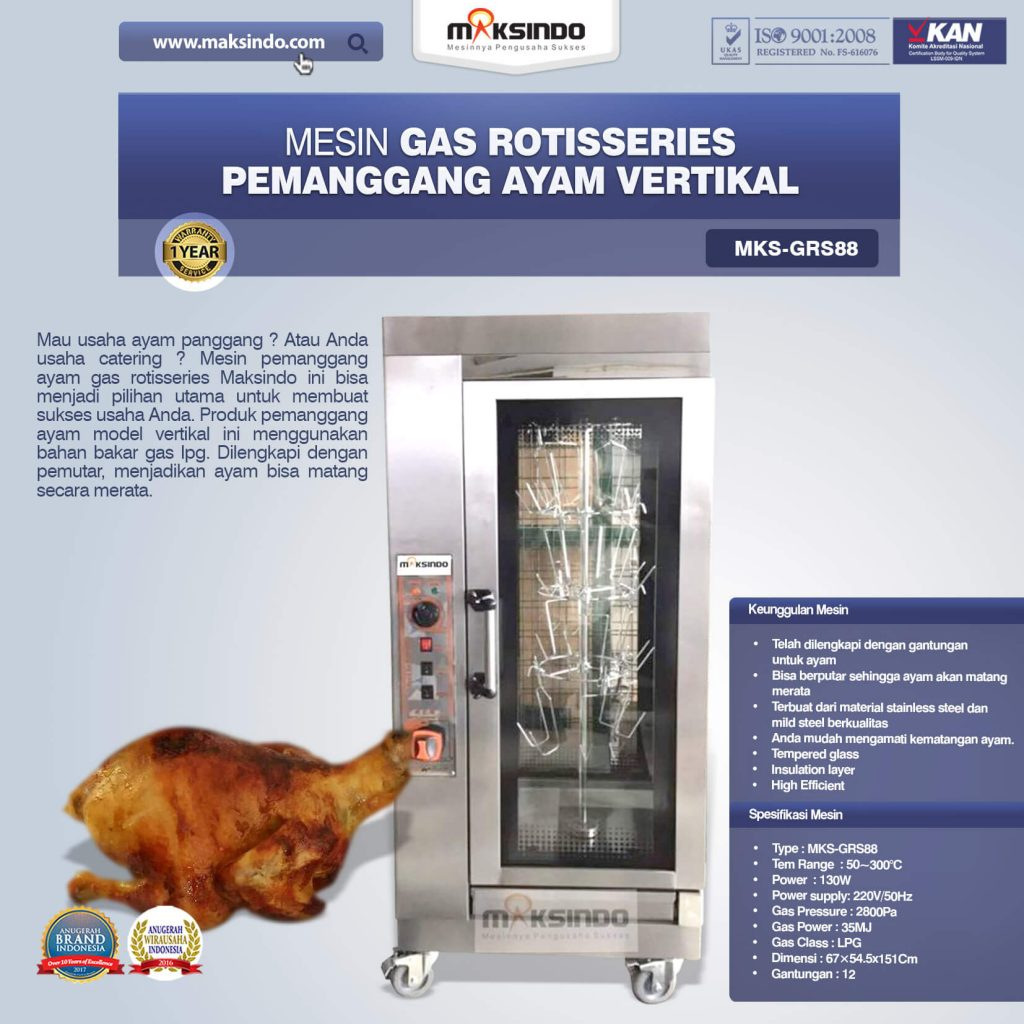 Gas Rotisseries Pemanggang Ayam Vertikal MKS-GRS88 (1)