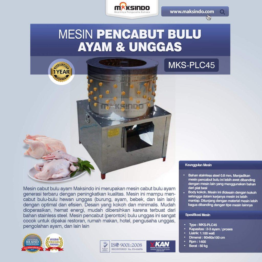 Mesin Pencabut Bulu Ayam Dan Unggas MKS-PLC45 (1)