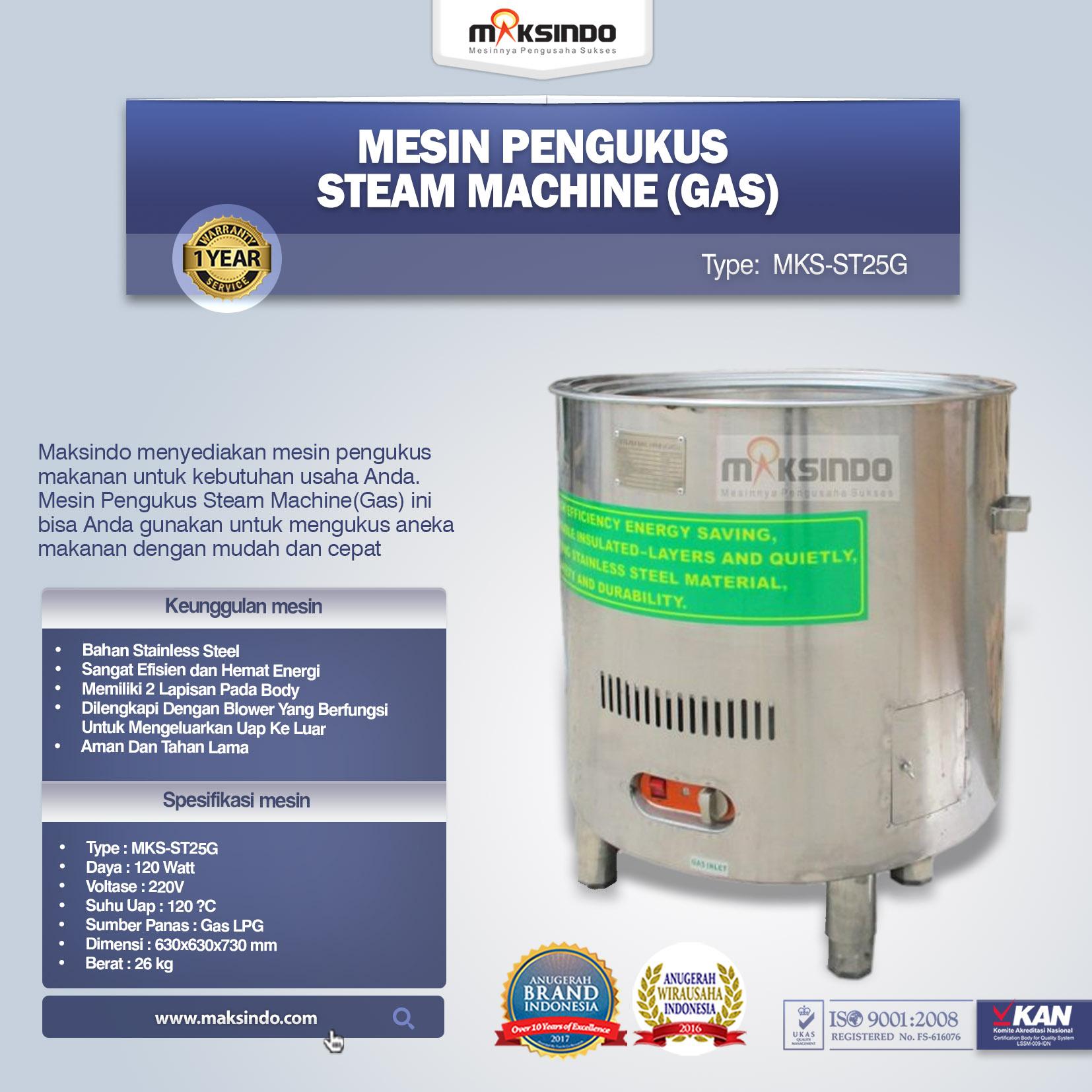 Mesin Pengukus Steam Machine (Gas) MKS-ST25G