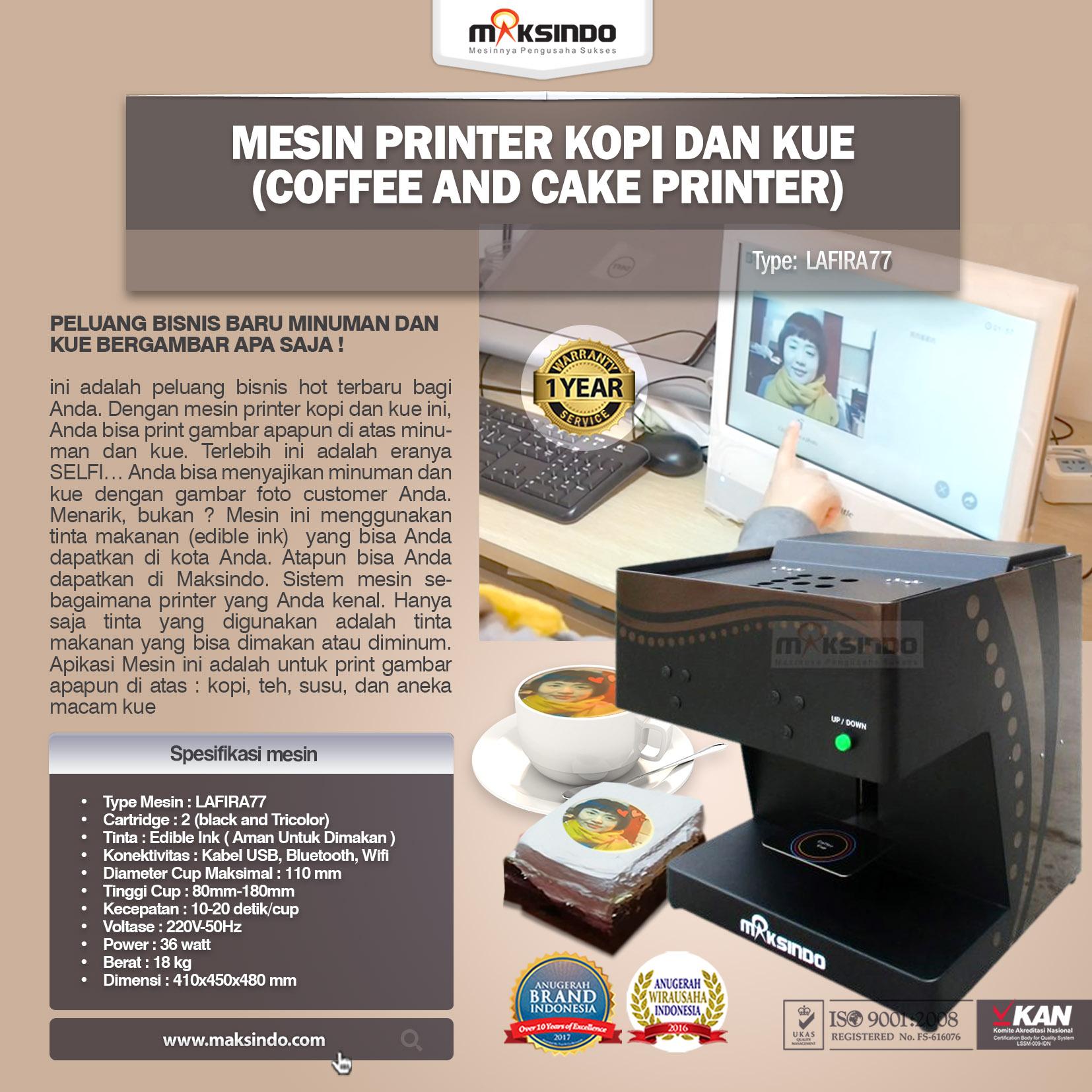 Mesin Printer Kopi dan Kue (Coffee and Cake Printer) LAFIRA77