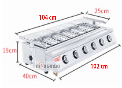 Pemanggang Serbaguna – Gas BBQ Grill 8 Tungku-2