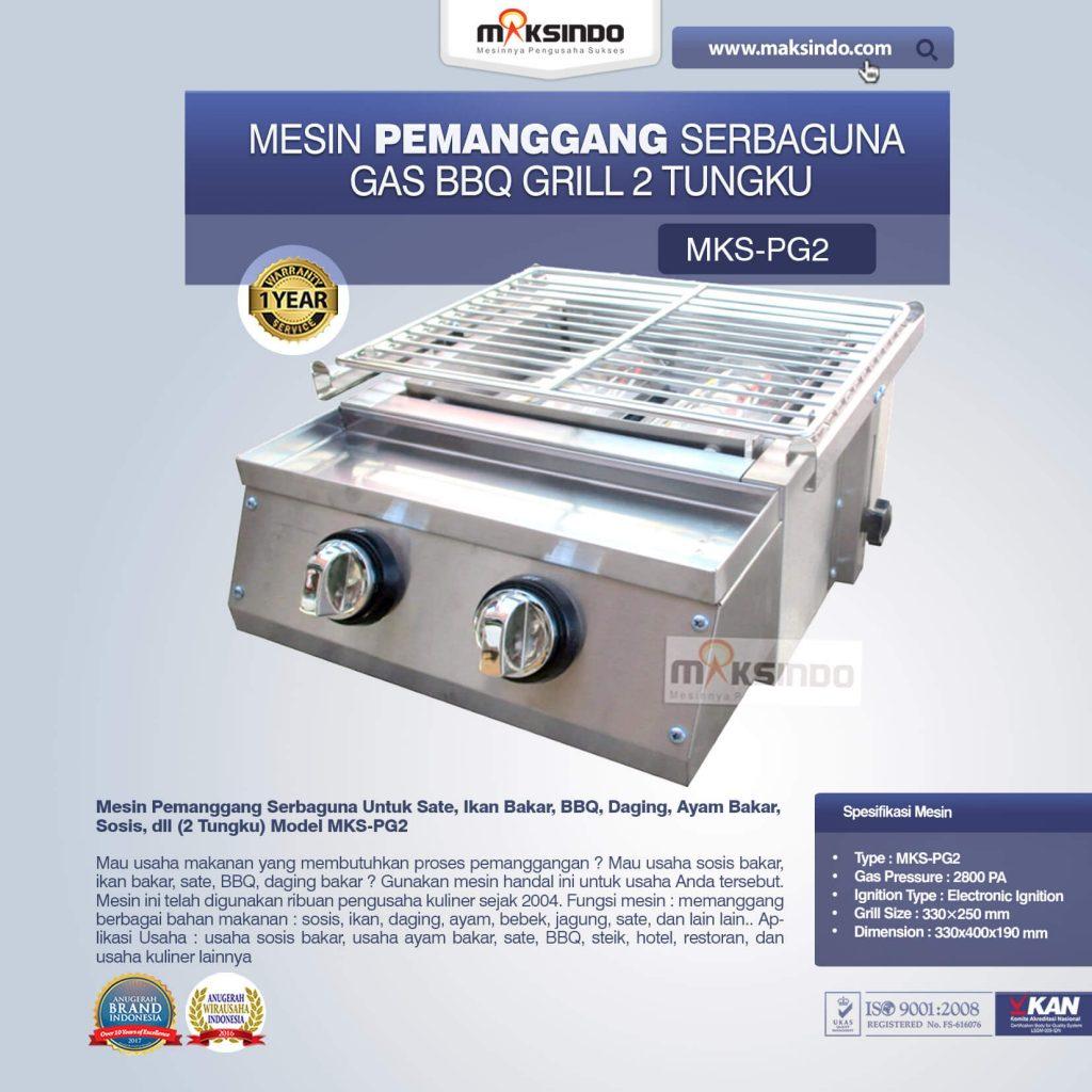 Pemanggang Serbaguna Gas BBQ Grill 2 Tungku MKS-PG2 (1)