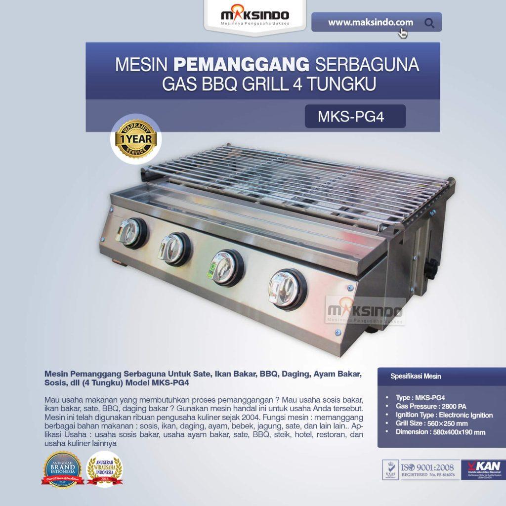 Pemanggang Serbaguna Gas BBQ Grill 4 Tungku MKS-PG4 (1)