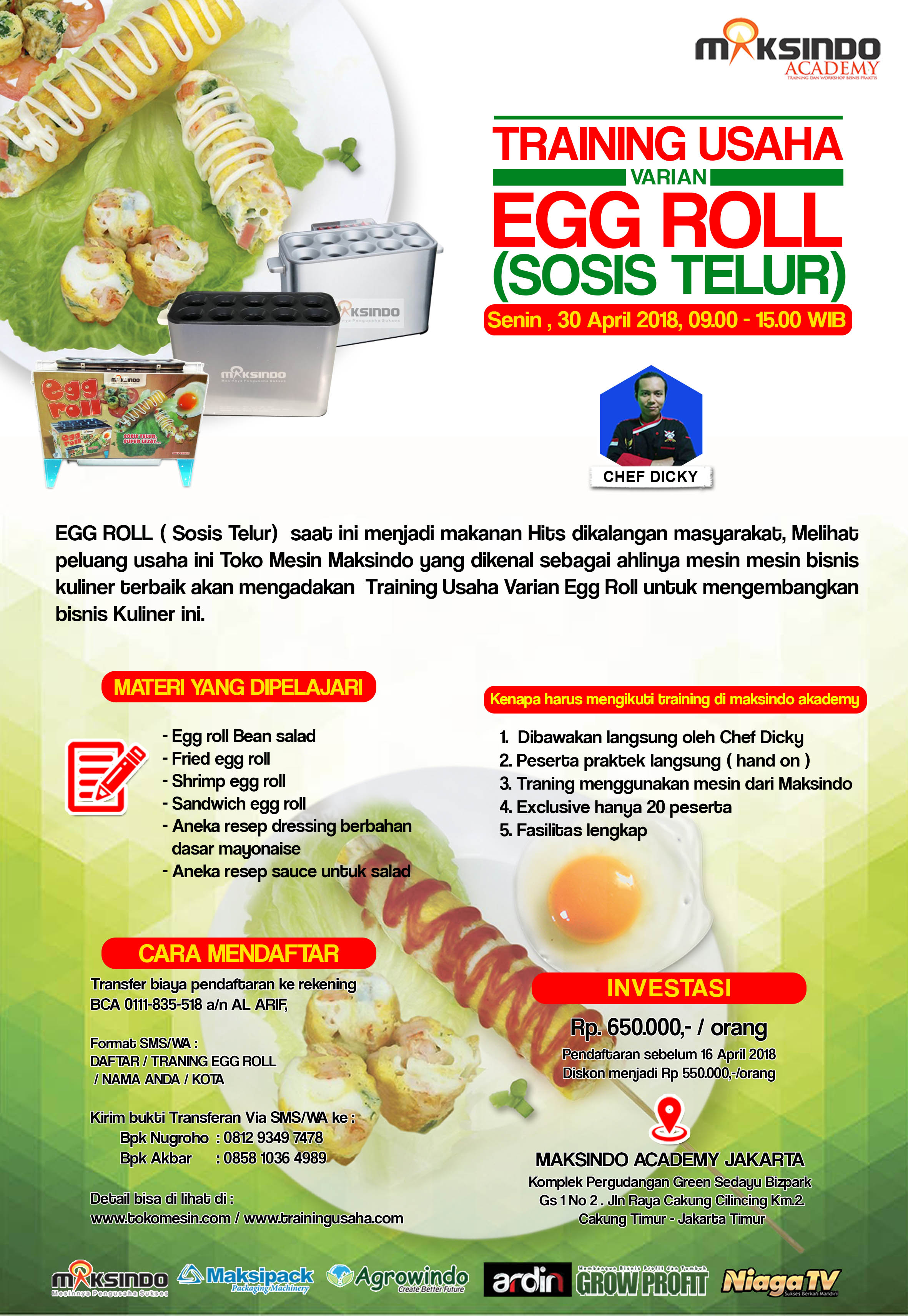 brousur tarining egg roll
