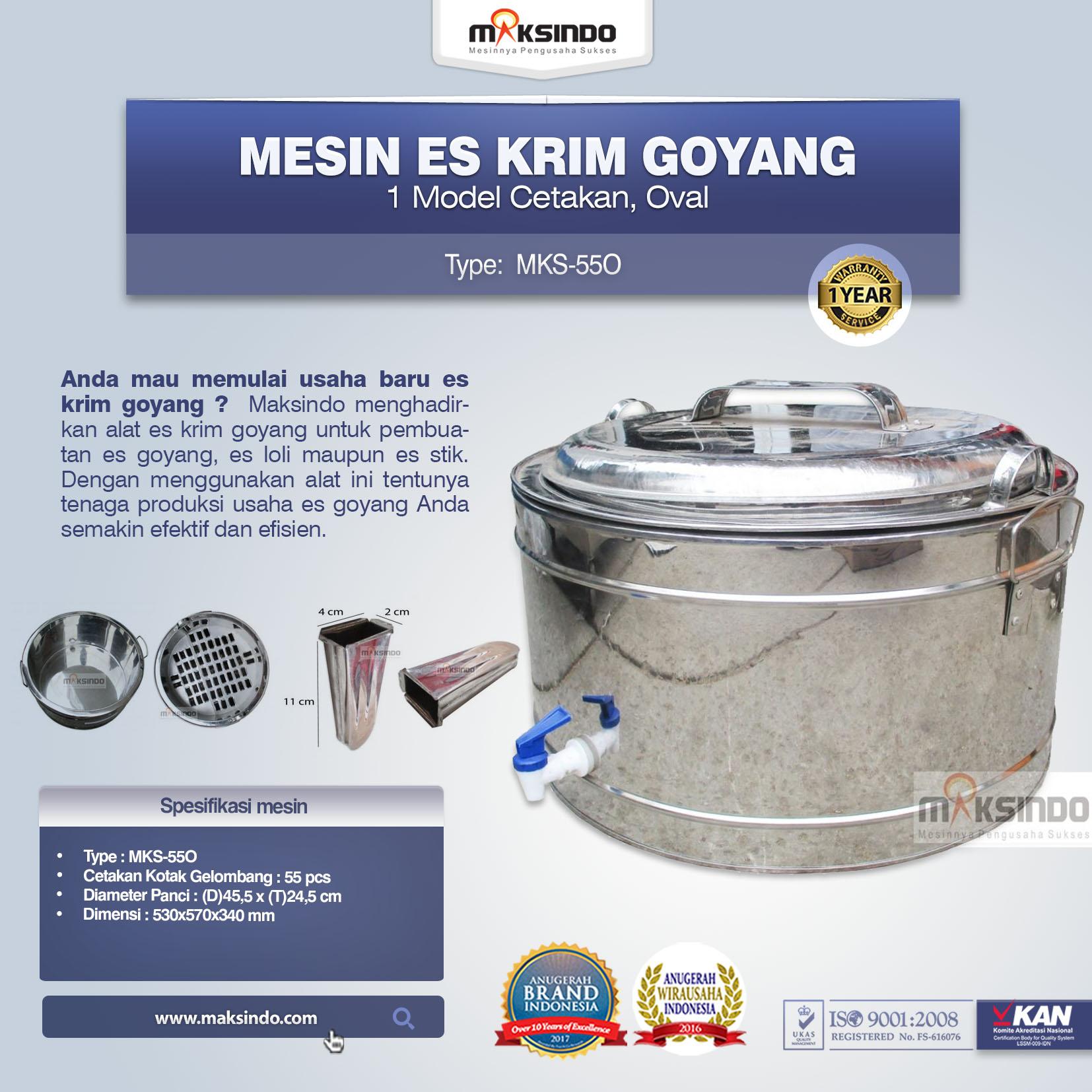 Alat Es Krim Goyang MKS-55O