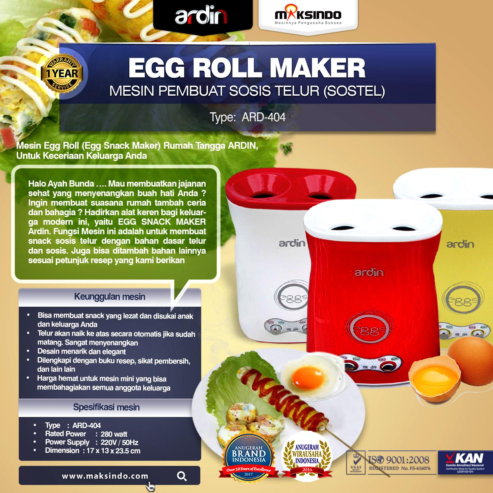 Egg Roll Maker (ARD-404) 1