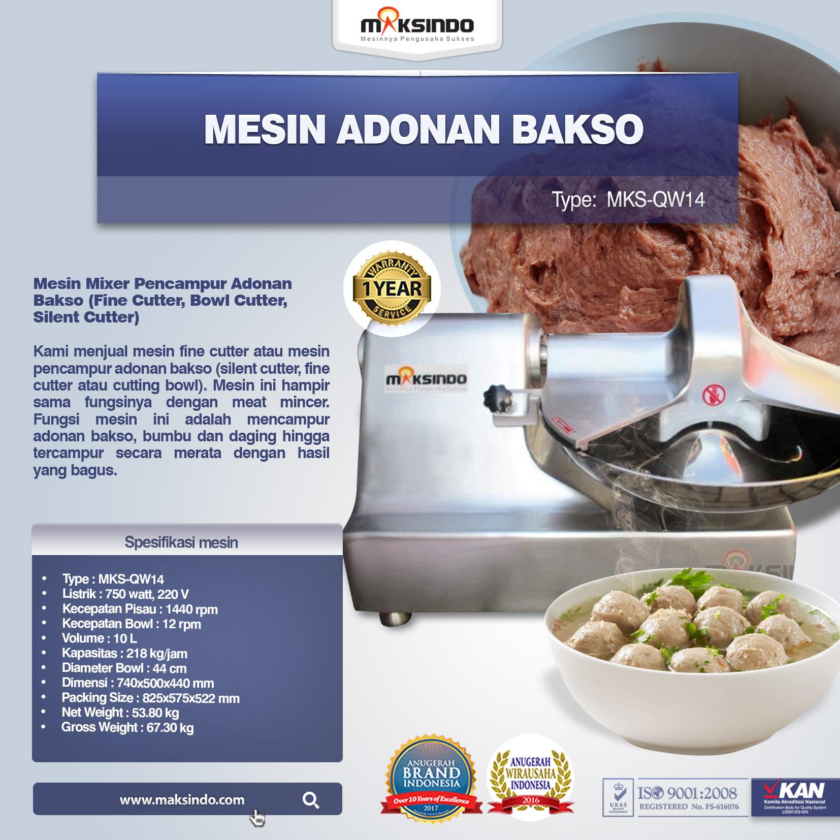 Mesin Adonan Bakso MKS-QW14