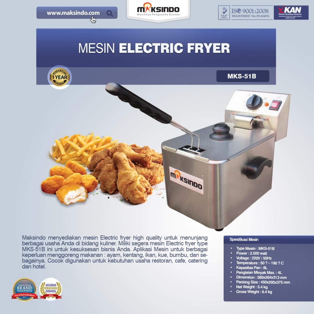Mesin Electric Fryer MKS-51B (1)