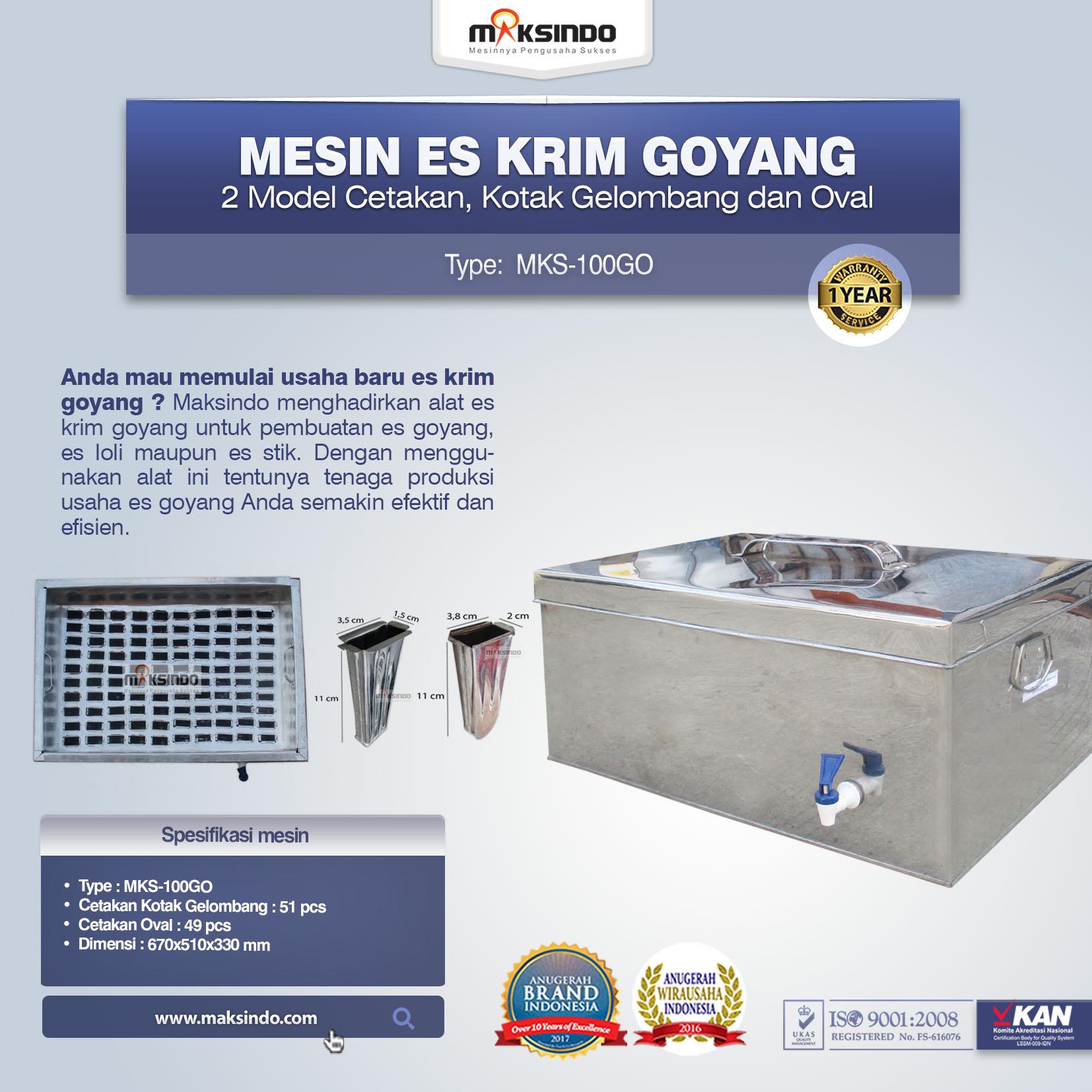 Mesin Es Krim Goyang MKS-100GO