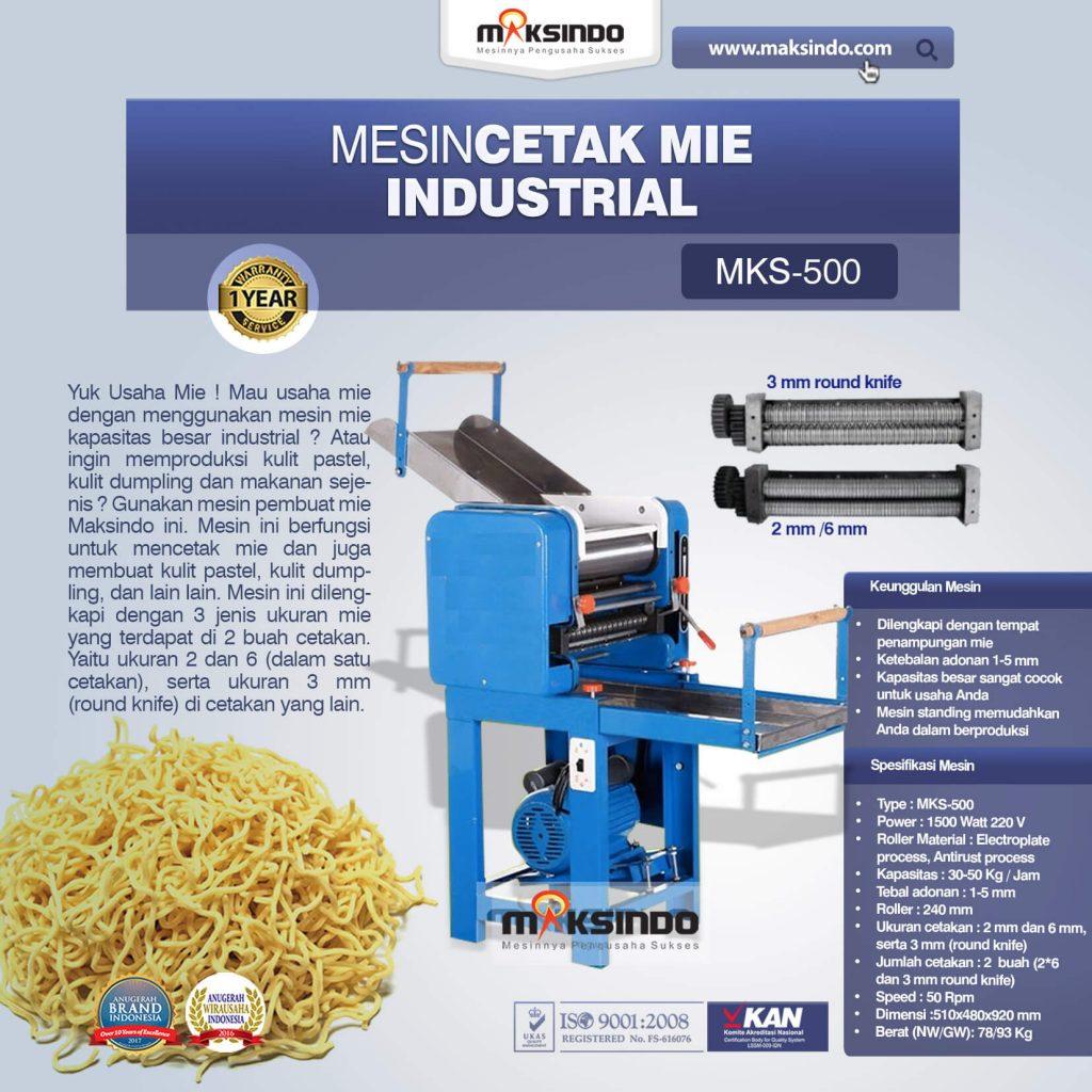 Mesin Cetak Mie Industrial MKS-500 (1)