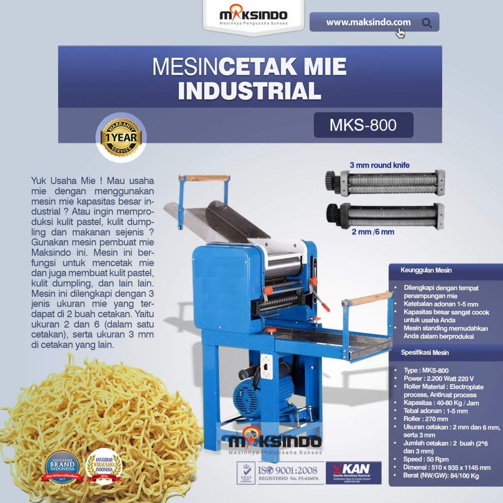 Mesin Cetak Mie Industrial MKS-800 (1)