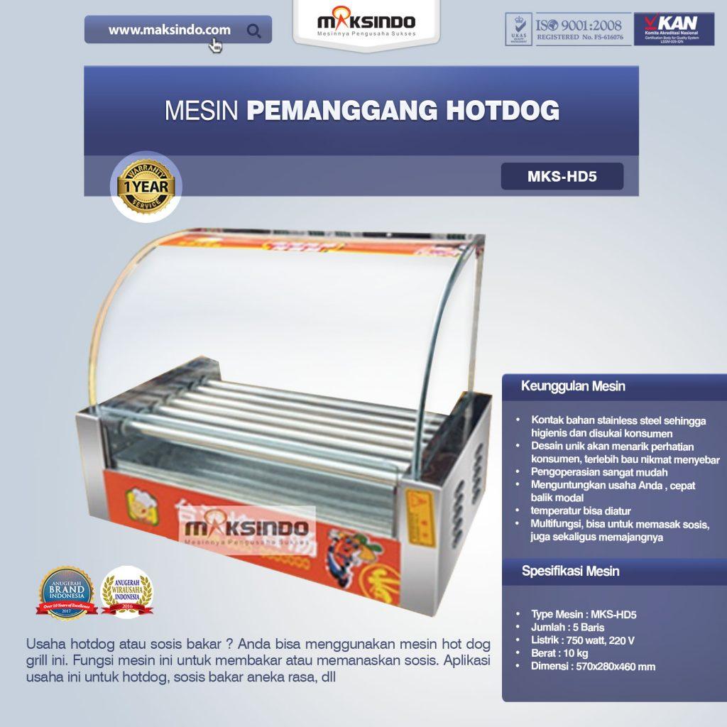 Mesin Pemanggang Hotdog MKS-HD5