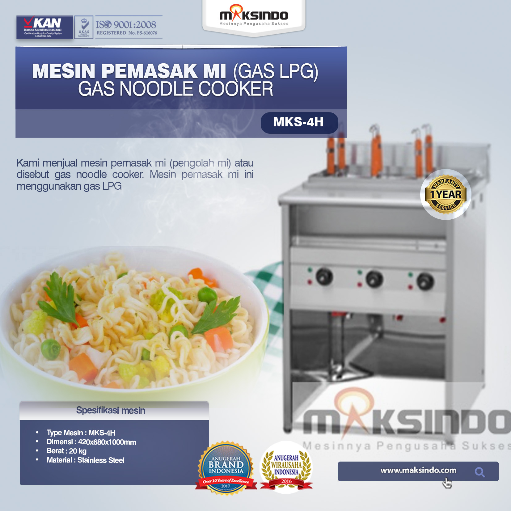 Counter Top Gas Pasta Cooker MKS-606PS copy