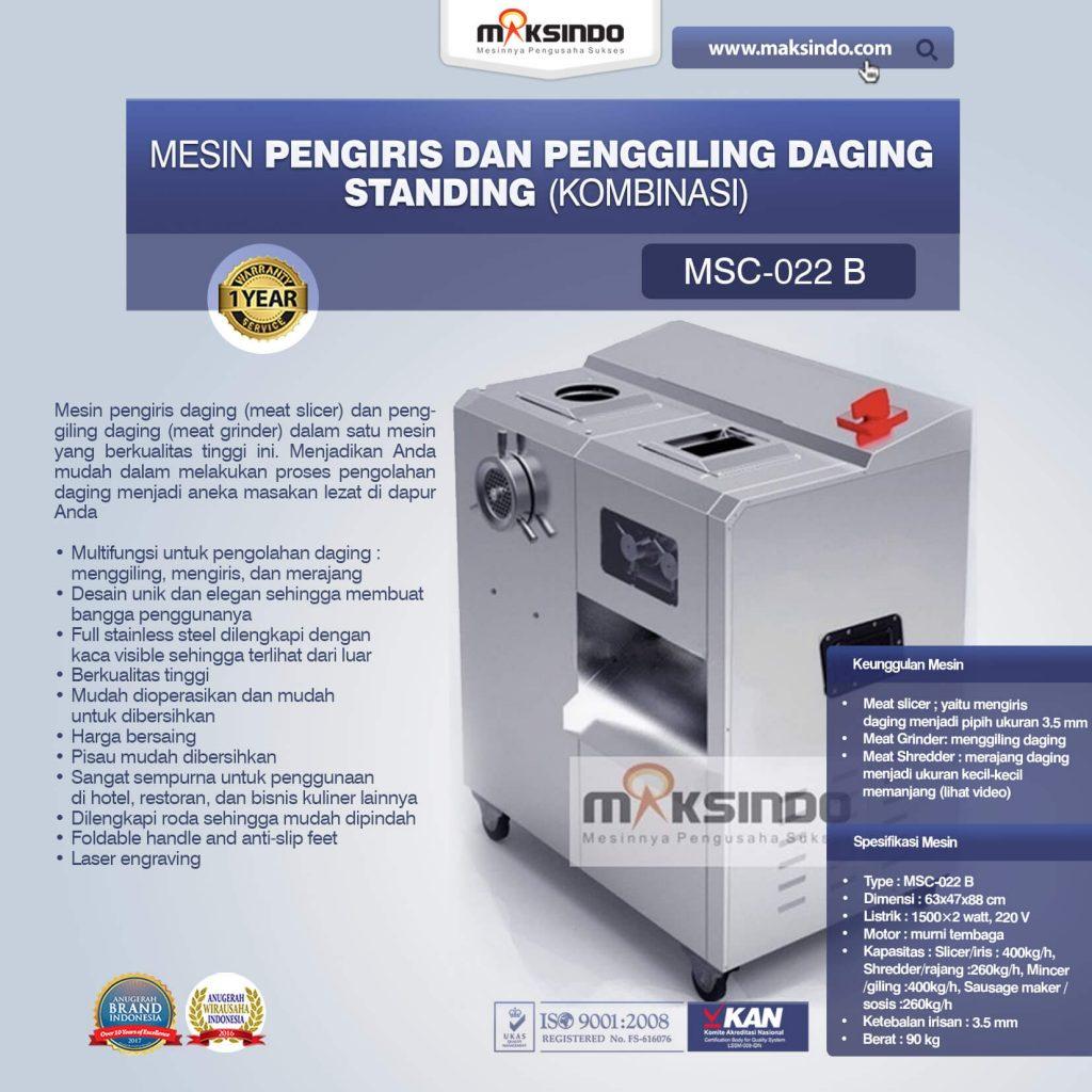 Mesin Pengiris dan Penggiling Daging Standing Kombinasi MSC-022 B (1)
