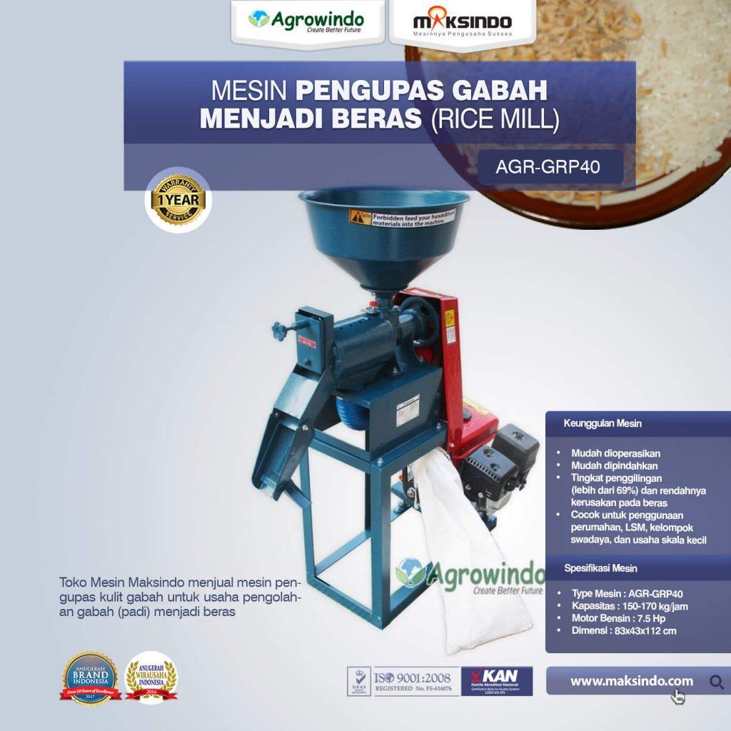 Mesin Pengupas Gabah Menjadi Beras Rice Mill AGR-GRP40 (1)