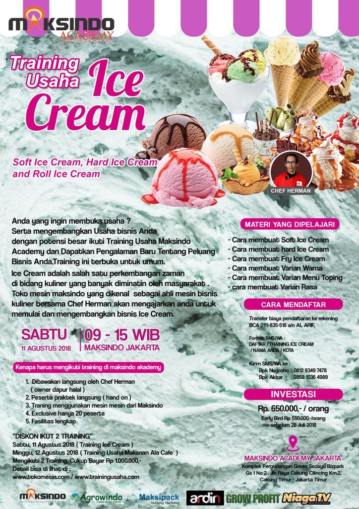 brousur ice cream agustus