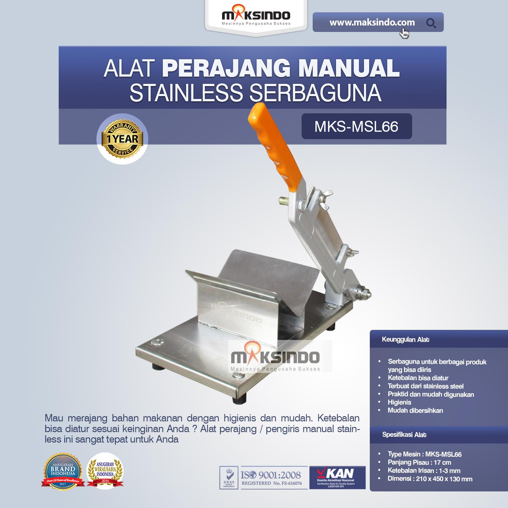 Jual Alat Perajang Manual Stainless Serbaguna di Tangerang