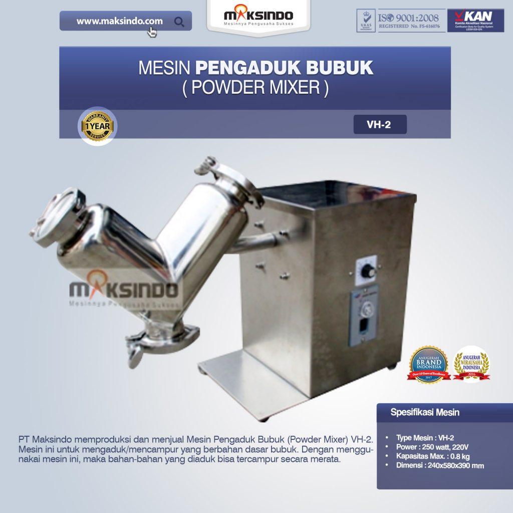 Mesin Pengaduk Bubuk Powder Mixer VH-2