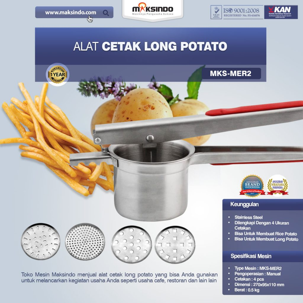Alat Cetak Long Potato MKS-MER2