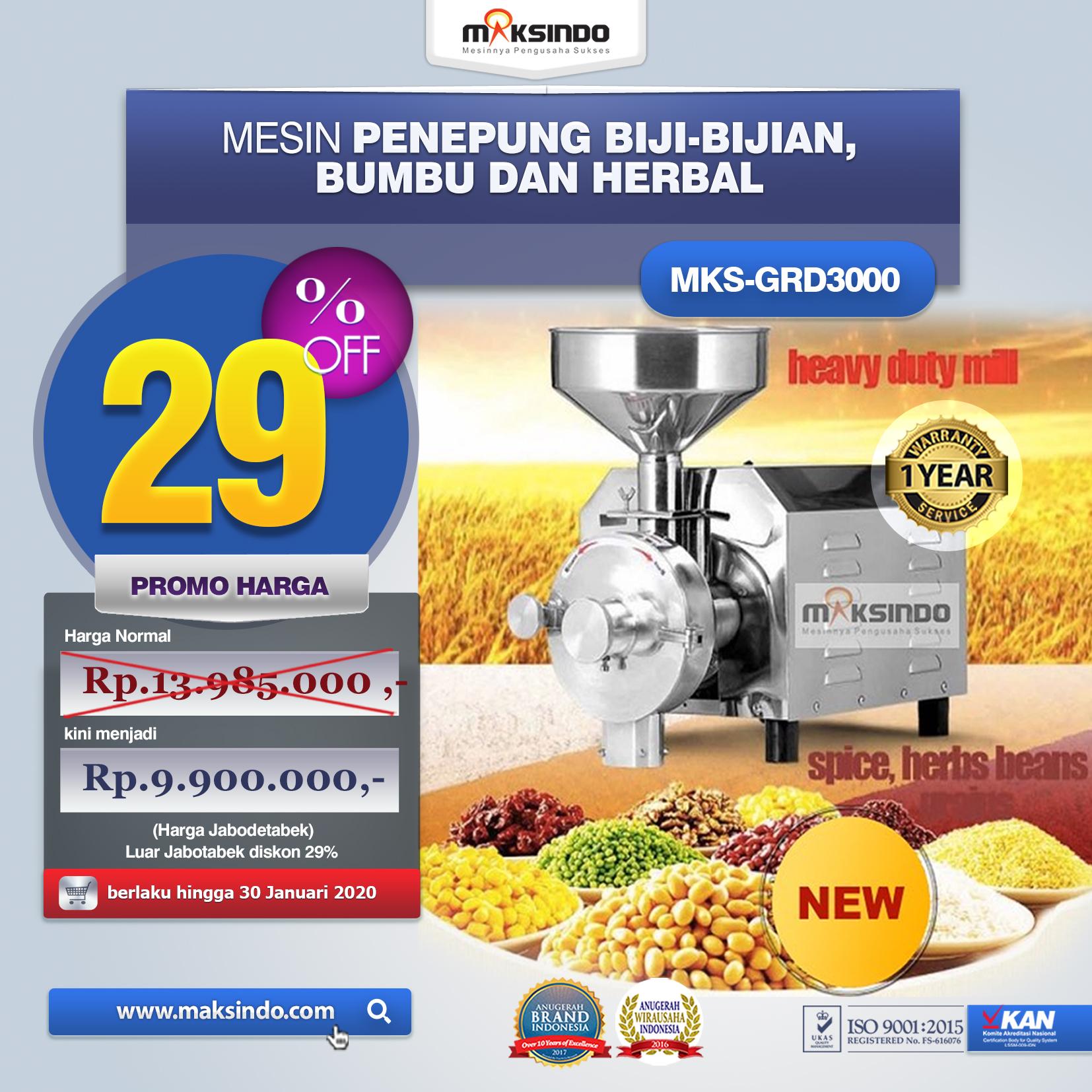 Jual Penepung Biji, Bumbu dan Herbal (GRD3000) di Tangerang