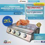 Jual Pemanggang Serbaguna Full Stainless – Gas BBQ Grill 4 Tungku di Tangerang