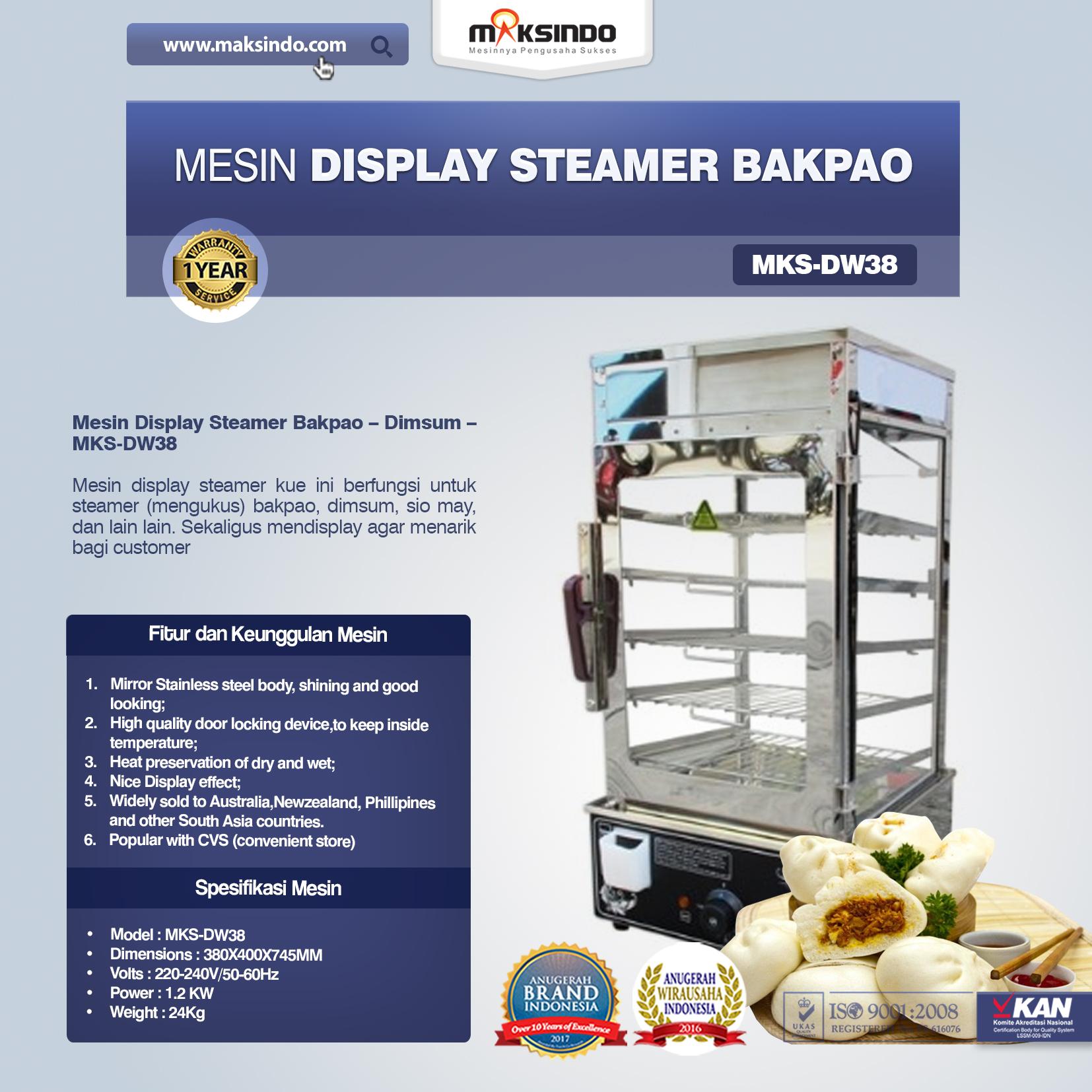 Mesin Display Steamer Bakpao MKS-DW38