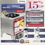 Jual Mesin Pembuat Egg Roll (Gas) 4 Lubang MKS-ERG444 di Tangerang