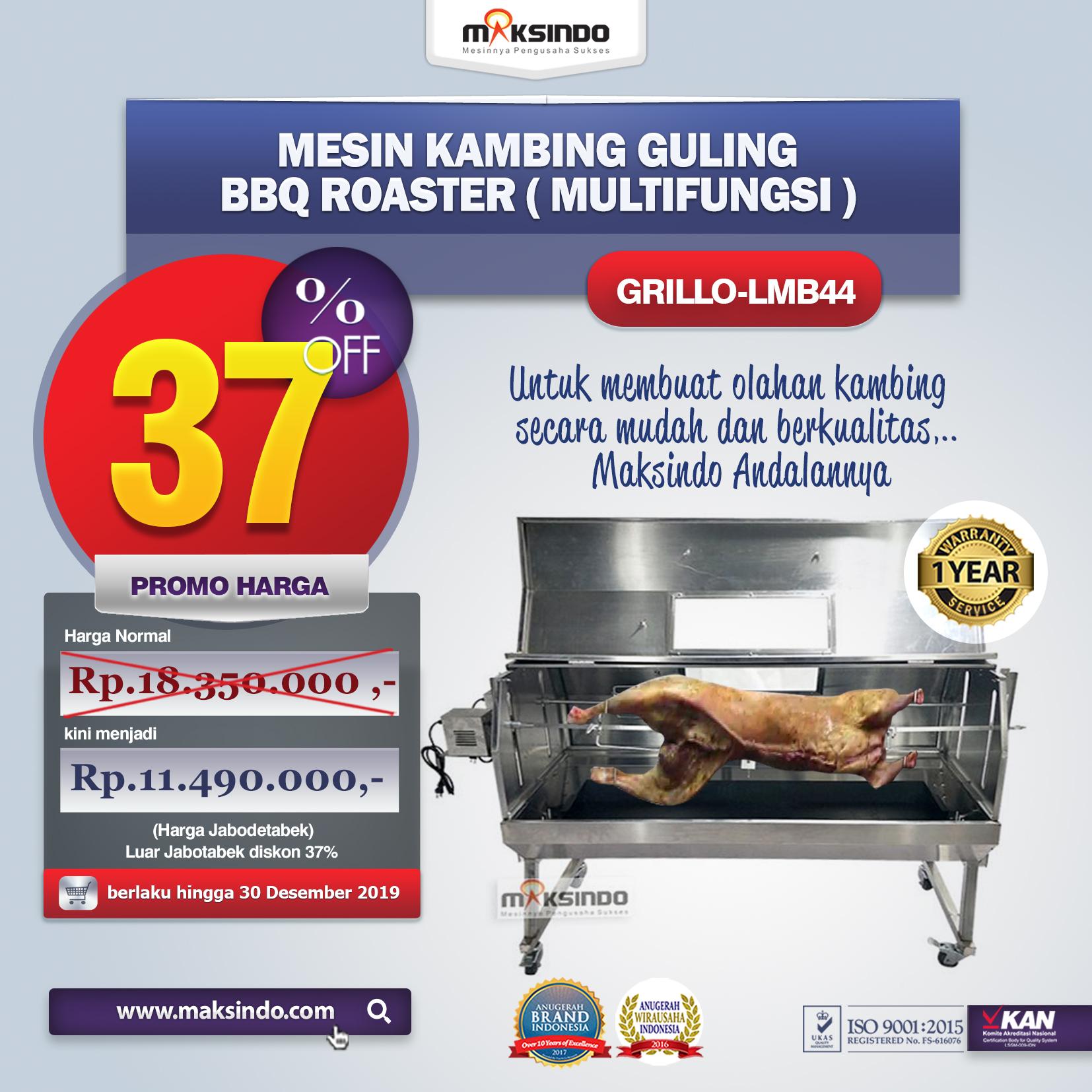 Jual Mesin Kambing Guling BBQ Roaster (GRILLO-LMB44) di Tangerang