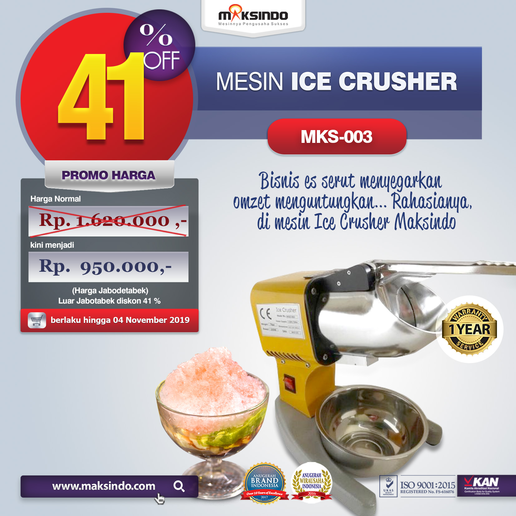 MKS 003 mesin ice crusher