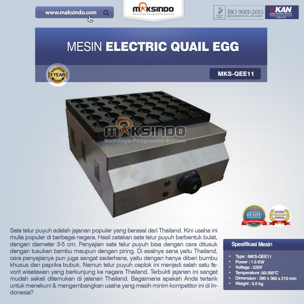 Mesin Electric Quail Egg MKS-QEE11
