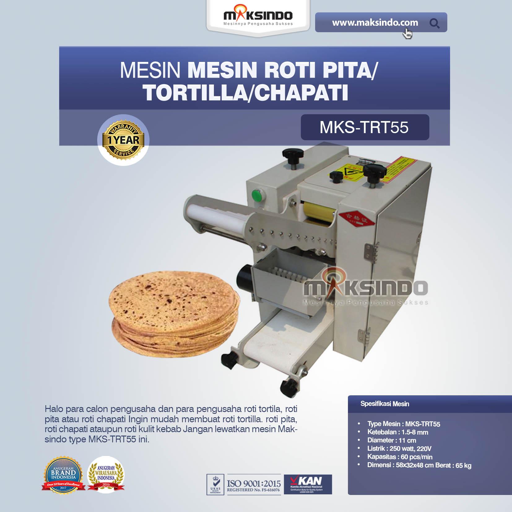Jual Mesin Roti Pita/Tortilla/Chapati MKS-TRT55 di Tangerang