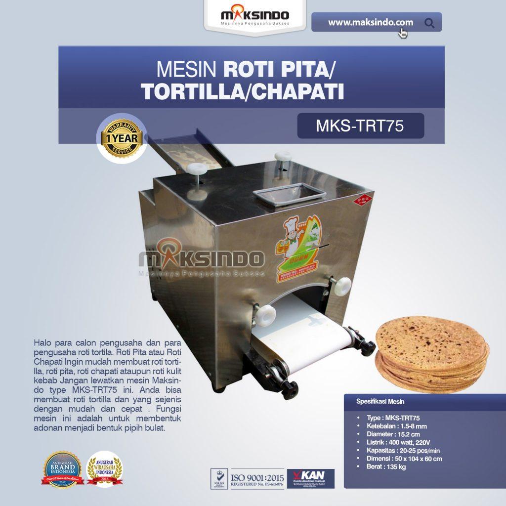 Mesin Roti Pita - Tortilla - Chapati MKS-TRT75