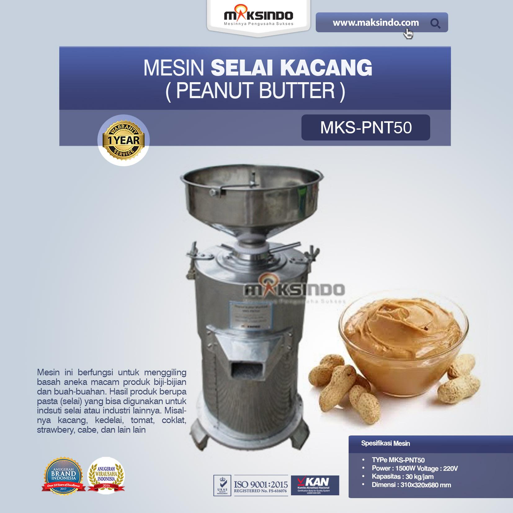Jual Mesin Selai Kacang (Peanut Butter) MKS-PNT50 di Tangerang